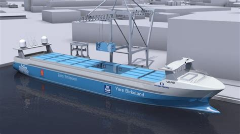 The World's First Electric Autonomous Container Ship To