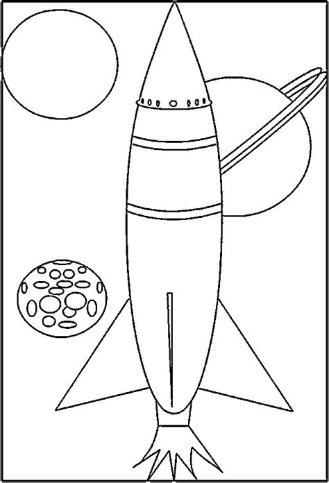 Rocketship Coloring Pages - Coloring Home