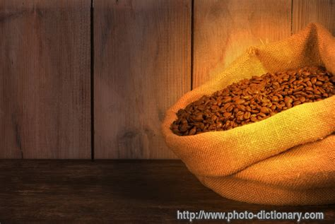 burlap sack - photo/picture definition at Photo Dictionary