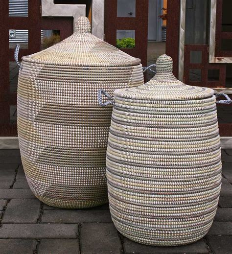 Large Lidded African Baskets (With images) | African