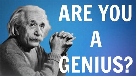 Are you a genius - Best Genius/IQ tests - How smart are