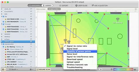 Create WiFi coverage heat maps with NetSpot for Mac & PC