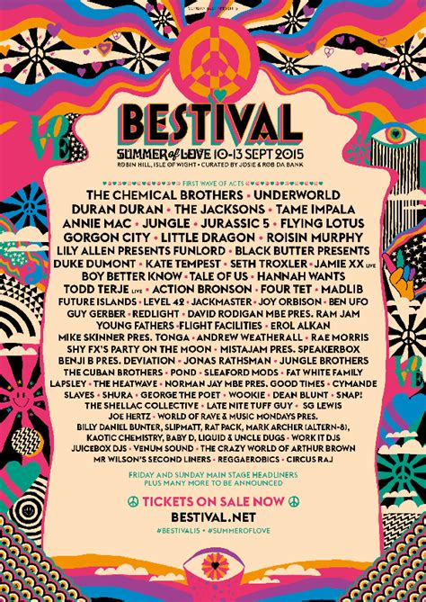 Bestival 2015 Lineup: The Jacksons, Chemical Brothers
