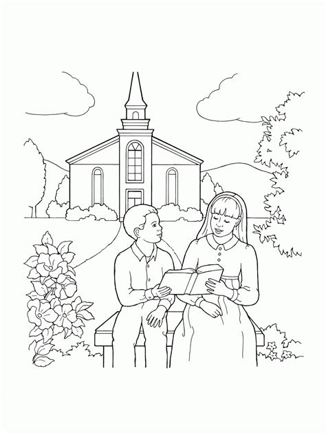 Coloring Pages Of Families Going To Church - Coloring Home