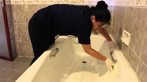 Bathroom Cleaning (Housekeeping Assignment) - YouTube