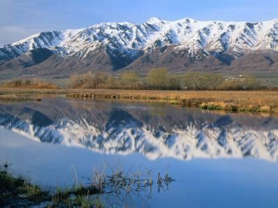 Wellsville Mountains Reflected in Little Bear River in