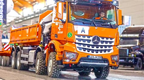 The MOST EXPENSIVE RC Truck! Loading Crane Hook Lifter! MB