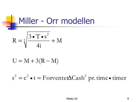 PPT - Module 10: Working Capital Management PowerPoint