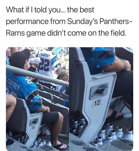 Carolina Panthers Fan Going Viral With 'Beer Bottle